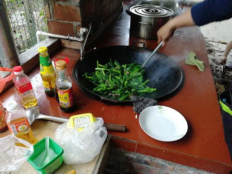 大锅炒菜心
